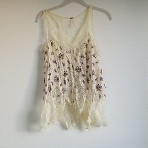 Free people cream top